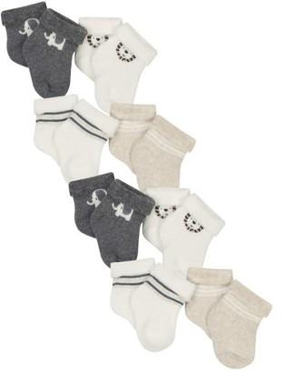 Gerber Organic Cotton Wiggle Proof Bootie Socks, 8-Pack (Baby Boys)
