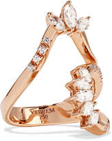 YEPREM - 18-karat Rose Gold Diamond Ring