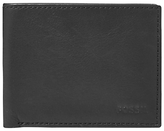 Fossil Ingram Leather Bifold Wallet With Id Window, Black
