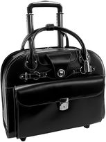 McKlein EDGEBROOK LEATHER 15.6 WHEELED LADIES' LAPTOP CASE [NON-DETACHABLE]