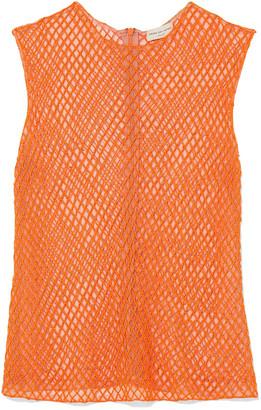 Dries Van Noten Bead-embellished Mesh Top