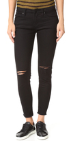 Blank Ripped Raw Hem Skinny Jeans