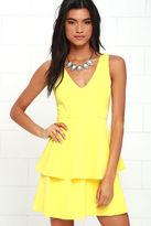 LuLu*s Sweet Deal Yellow Skater Dress