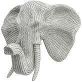 Three Hands Braided Elephant Head Wall Figure