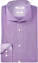 Isaac Mizrahi Solid Oxford Slim Fit Dress Shirt