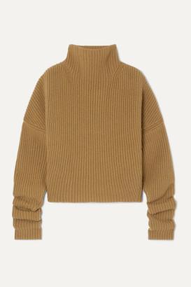 Petar Petrov Kate Ribbed Cashmere Turtleneck Sweater - Beige