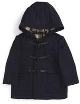 Burberry Infant Boy's Brogan Hooded Wool Toggle Coat