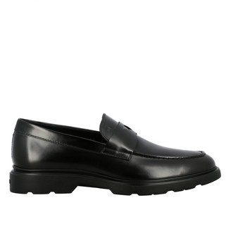 Hogan Loafers Smooth Leather Loafer With Rubber Sole