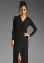 Michael Stars Collection Joanie Long Sleeve Surplice Slit Maxi Dress