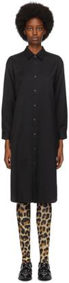 Junya Watanabe Black Wool Shirt Dress