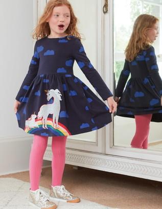 Printed Applique Dress