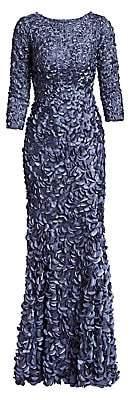Theia Women's Petal Boat-Neck Gown