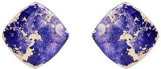 Odell Design Studio Gold Mini Diamond Stud Earrings - Royal