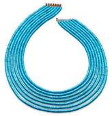 Paul Morelli Seven-Strand Heishi Turquoise Necklace