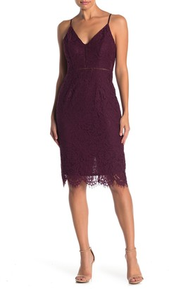 ASTR the Label Lace V-Neck Sheath Dress
