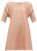 Pleats Please Issey Miyake Drawstring Technical-pleated Dress - Womens - Light Pink