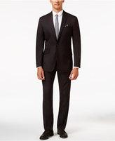 Kenneth Cole Reaction Men's Slim-Fit Burgundy Pindot Suit