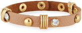 Nakamol Studded Leather Cuff Bracelet w/ Crystals