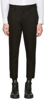 Neil Barrett Black Cropped Zip Trousers