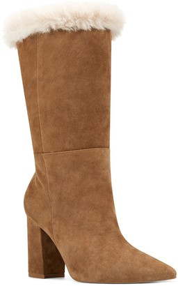 Nine West Chrissa Faux Shearling Trim Boot