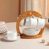KHSKX-Ceramic Cups Of Coffee Cups Package At A Storm In The Bone Minimalist Coffee Maker With Bamboo Rack
