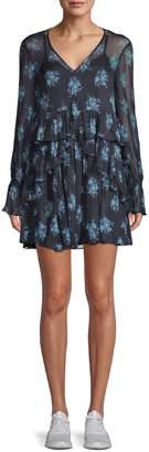 Cinq à Sept Farris Silk Floral Mini Dress