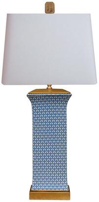 East Enterprises Inc English Blue and White Vase Lamp