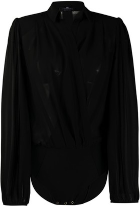 Elisabetta Franchi Wrap-Front Shirt Body