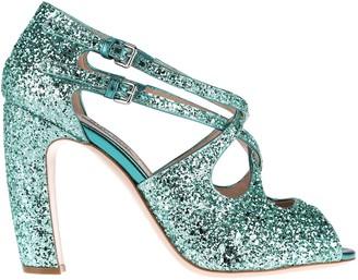 Miu Miu Glittered Open Toe Sandals