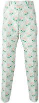 Gucci floral jacquard trousers
