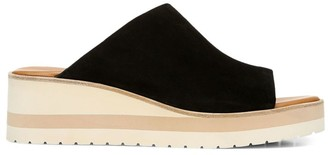 Vince Sarria Suede Wedge Mules