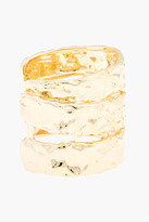 Marc by Marc Jacobs Rough Gold stacked cuff