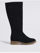 M&S Collection Suede Block Heel Knee High Boots