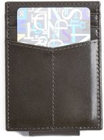 Johnston & Murphy Men's Leather Money Clip Card Case - Grey