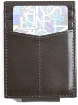 Johnston & Murphy Men's Leather Money Clip Card Case - Grey