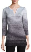 St. John Metallic Degrade Peekaboo Knit Tunic