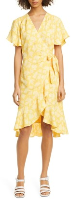 Joie Amelian Floral Print Wrap Dress
