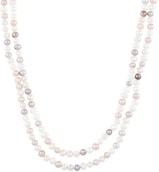 Splendid Pearls Natural Multicolored 5-5.5mm Cultured Freshwater Pearls Endless Necklace