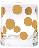 Home Essentials and Beyond Posh 18K Gold Dot Double Old Fashioned 10 oz. Glass