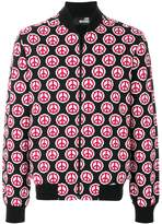 Love Moschino peace symbol print jacket