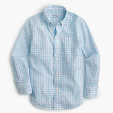 J.Crew Pre-order Boys' Secret Wash shirt in check
