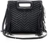 Maje Fringe Convertible Quilted Leather Crossbody