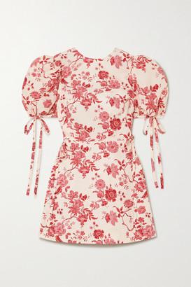 The Vampire's Wife The Wrapsody Floral-print Cotton-poplin Wrap Mini Dress - Pink