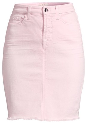 JEN7 by 7 For All Mankind Fray Hem Denim Pencil Skirt