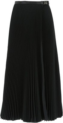 Prada Pleated Belted Skirt