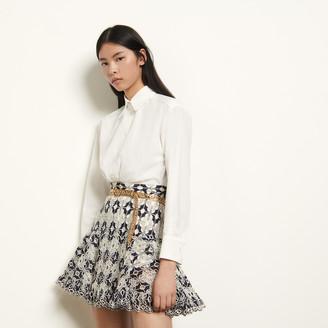 Sandro Short broderie anglaise skirt
