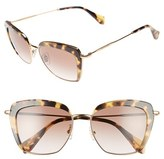Miu Miu Women's 53Mm Sunglasses - Havana/ Brown Gradient