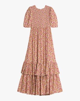 By Ti Mo Smocking Maxi Dress
