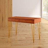 Feemster 2 Drawer Desk Mercury Row Color: Natural/Brown