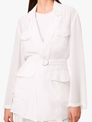 French Connection Brekhna Belted Jacket, Summer White
